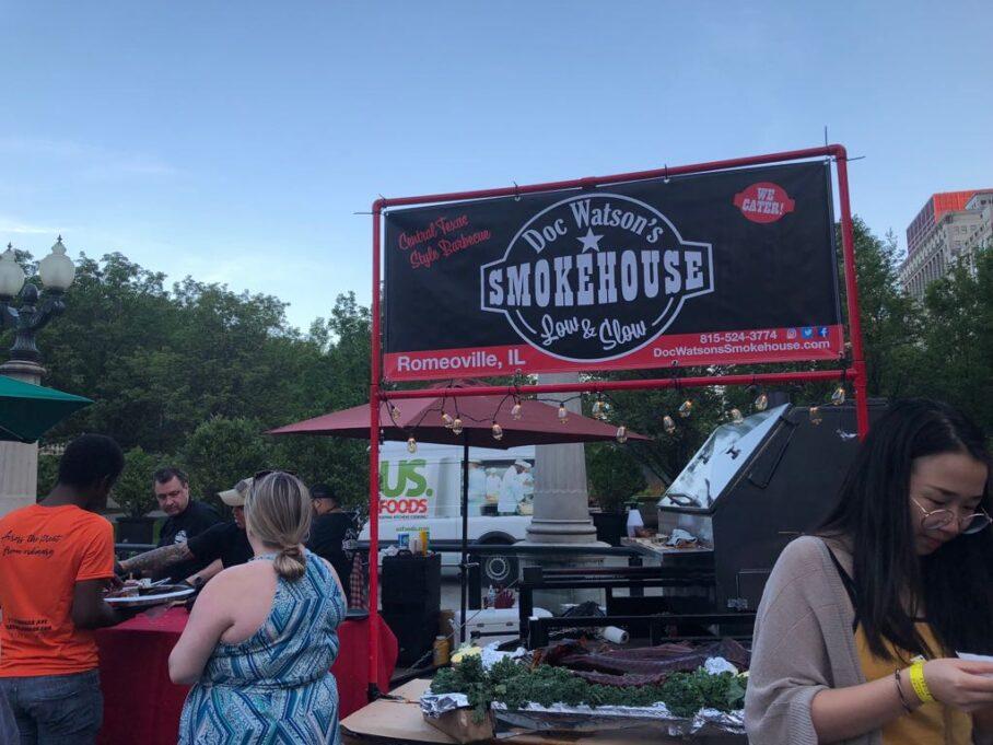 Smokehouse BBQ stand