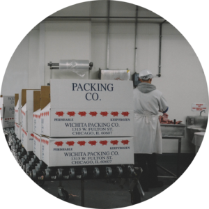 Wichita Packing Co. branded boxes